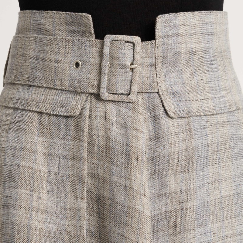 Lněná sukně Fabiana Filippi