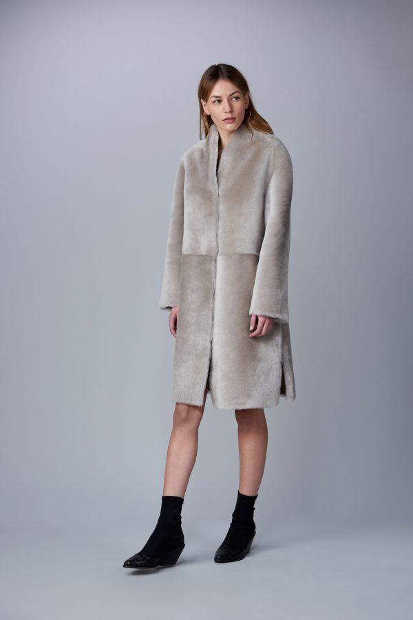 Oboustranný kabát z jehněčí kožešiny